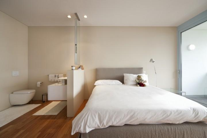 Sypialnia w bieli galeria strona 7 projekt sypialni for Taille salle de bain suite parentale